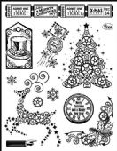 Viva Decor Clear Silicone A5 Stamp Set - Steampunk Christmas Tree - 4003 117 00